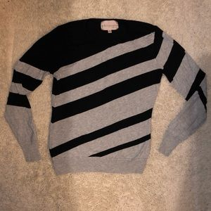 Philosophy size small striped sweater black/gray